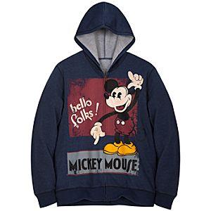 Hoodie Vintage Mickey Mouse Sweatshirt Jacket