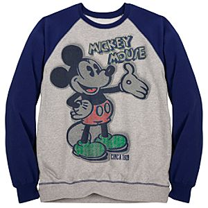 Raglan Mickey Mouse Sweatshirt