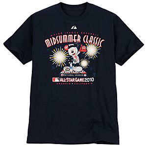 Fitted All-Star National League Mickey Mouse Tee for Adults