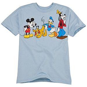 Organic Fab 4 Mickey and Friends Tee