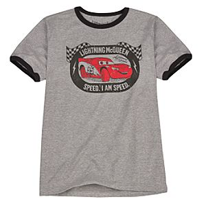 Organic Mens I am Speed Lightning McQueen Tee