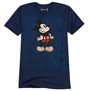 Organic Sketch Art Mickey Mouse Tee