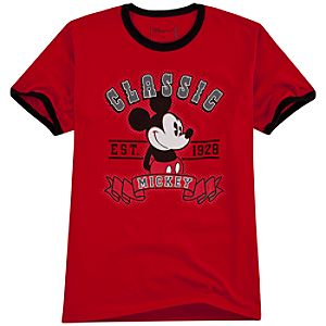 Organic Red Classic Mickey Mouse Tee
