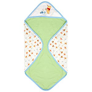 Personalized Reversible Winnie the Pooh Blanket for Boys