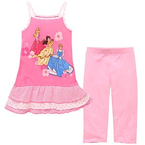 Rhinestone Disney Princess Tank Dress and Legging Set -- 2-Pc.
