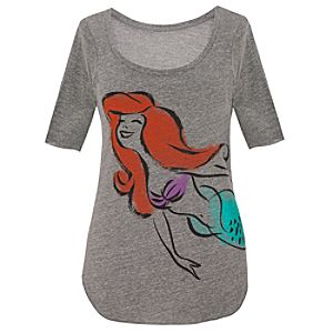 Scoop Neck Ariel Tee