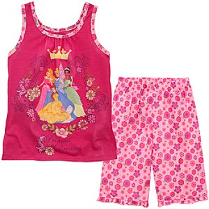 Tank Style Disney Princess PJ Set for Girls
