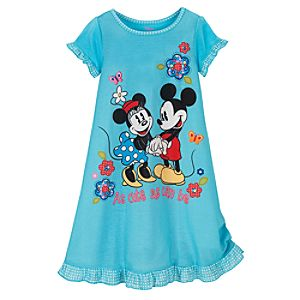 Minnie and Mickey Mouse Nightshirt for Girls