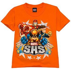 Metallic Marvel Super Hero Squad Tee