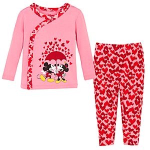 Sweetheart Minnie and Mickey Mouse PJ Pal for Infant Girls