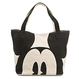 Jumbo Canvas Mickey Mouse Tote