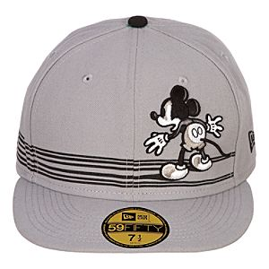 Mens Fitted The Mad Doctor Mickey Mouse Hat - Gray