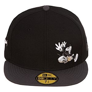 Mens Fitted The Mad Doctor Mickey Mouse Hat - Black