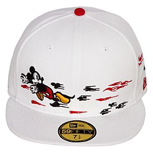 Mens Fitted Thru the Mirror Mickey Mouse Hat