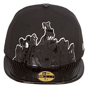 Mens Fitted Lonesome Ghosts Mickey Mouse Hat