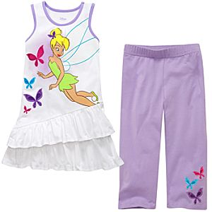 Knit Tinker Bell Dress and Legging Set for Girls