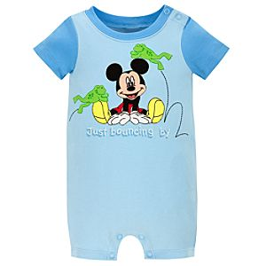 Organic Mickey Mouse Tiny Tee Coverall for Infant Boys