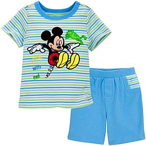 Organic Mickey Mouse Shorts and Tee Set for Infant Boys