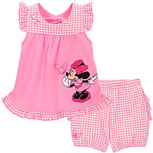 Organic Minnie Mouse 2-Piece Set for Infant Girls