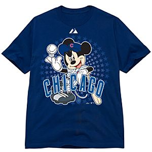 Disney Fitted Chicago Cubs Mickey Mouse Tee