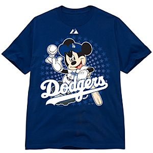 Disney Fitted Los Angeles Dodgers Mickey Mouse Tee