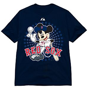 Disney Fitted Boston Red Sox Mickey Mouse Tees