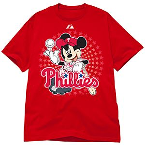 Disney Fitted Philadelphia Phillies Mickey Mouse Tee