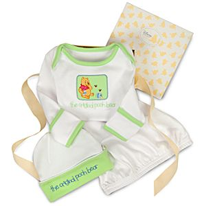 Organic Winnie the Pooh Sleepwear Gift Set for Infants -- 2-Pc.