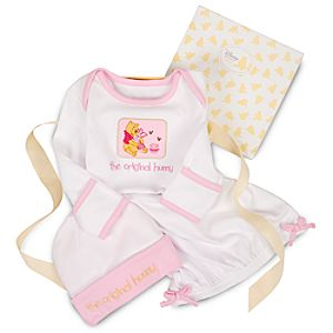 Organic Winnie the Pooh and Piglet Sleepwear Gift Set for Infants -- 2-Pc.