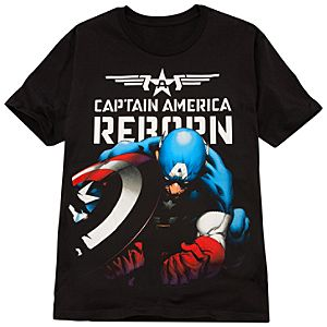 Fitted Captain America Reborn Tee