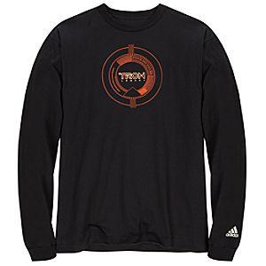 Adidas Glow-in-the-Dark Long Sleeve TRON Legacy Tee in Orange