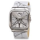 Products>Accessories>Watches> - Wide Leather Band Jack Skellington Watch: Sizes