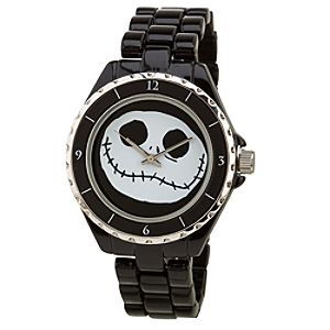 Black Metal Link Jack Skellington Watch