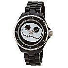 Products>Accessories>Watches> - Black Metal Link Jack Skellington Watch: Sizes