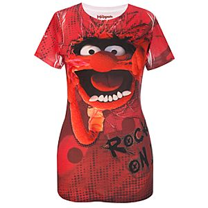 Fitted Rock On Animal Muppets Top