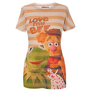 Fitted Love My BFF Kermit and Fozzy Muppets Top