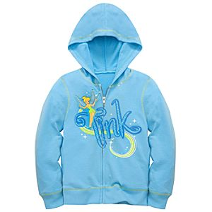 Tinker Bell Zipped Hoodie for Girls