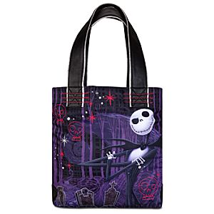 Pink Skulls and Jack Skellington Tote Bag