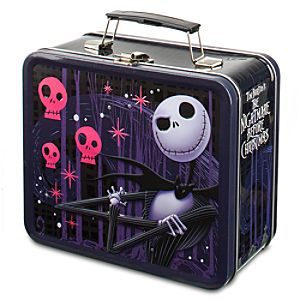 Pink Skulls and Jack Skellington Tin Tote