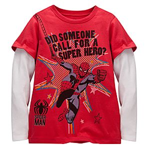 Double-Up Long Sleeve Spider-Man Tee