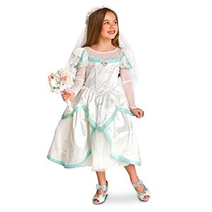 Wedding Dress Ariel Costume for Girls