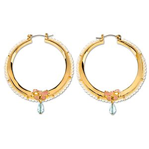 Pearl Hoop Cinderella Earrings by Disney Couture