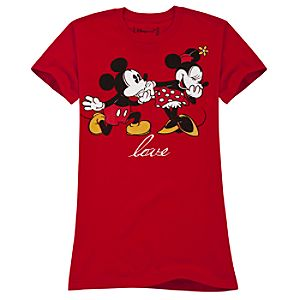 Love Minnie Mouse and Mickey Mouse Tee