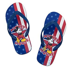 Americana Mickey Mouse Flip Flops for Adults