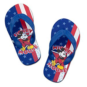 Americana Mickey Mouse Flip Flops for Kids