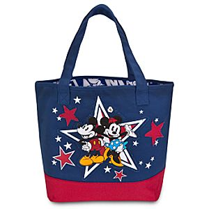 Personalized Americana Minnie and Mickey Mouse Tote