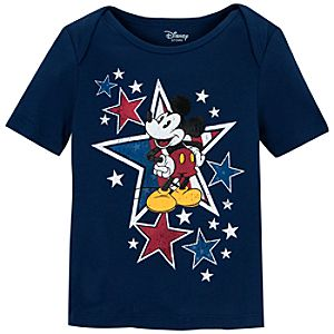 Organic Cotton Americana Mickey Mouse Tee for Infant Boys