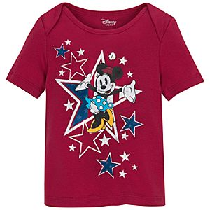 Organic Cotton Americana Minnie Mouse Tee for Infant Girls