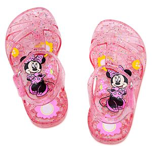 Glitter Jelly Minnie Mouse Sandals