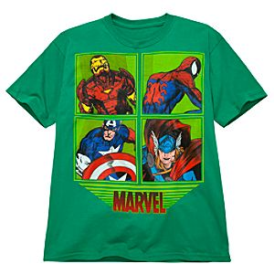 Framed Characters Marvel Tee for Boys